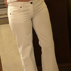 Citizens of Humanity white wide-leg jeans